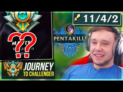 HIGHEST RANK I'VE EVER BEEN!!!!!!! CHALLENGER SOON - Journey To Challenger | League of Legends