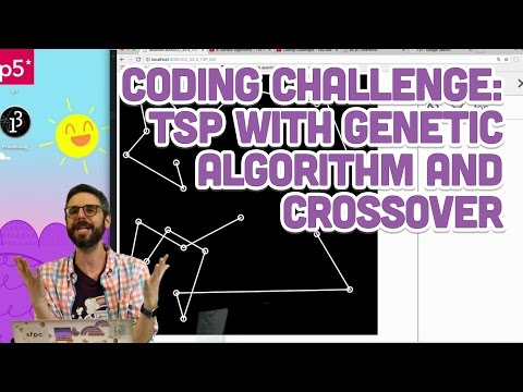 Coding Challenge #35.5: TSP with Genetic Algorithm and Crossover