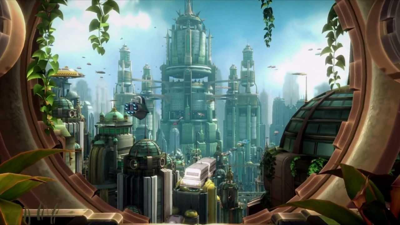 Ps3 Animated Wallpaper Ratchet Amp Clank Metropolis Dreamscene Animated Windows