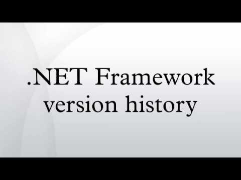 .NET Framework version history
