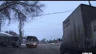 Автобус авария, чудом спаслись!