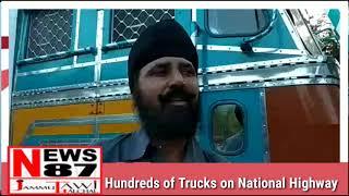 Hundreds of Trucks on National Highway