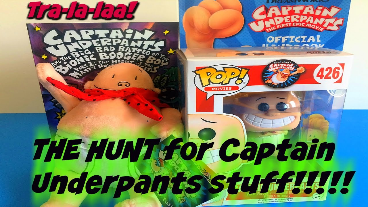The Hunt For Captain Underpants The Movie Toys Books Plush 2017 At Target Barnes Noble New Youtube