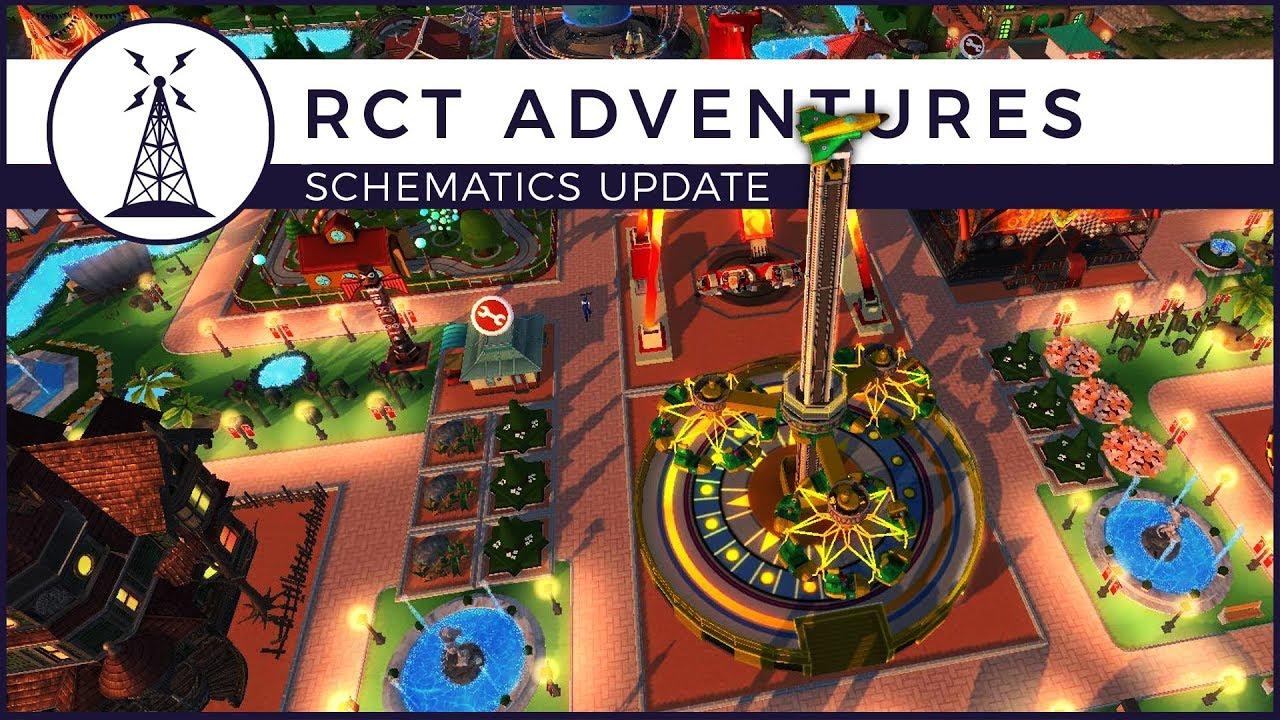 Rollercoaster Tycoon Adventure - Will It Be Good?! | Schematics Update