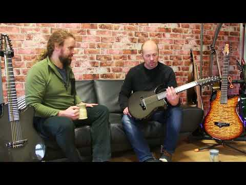 Alistair Hay of Emerald Guitars talks about the Amicus carbon fibre 12-string mini-guitar