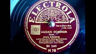 Anny Schlemm - Laudate Dominum - 1950