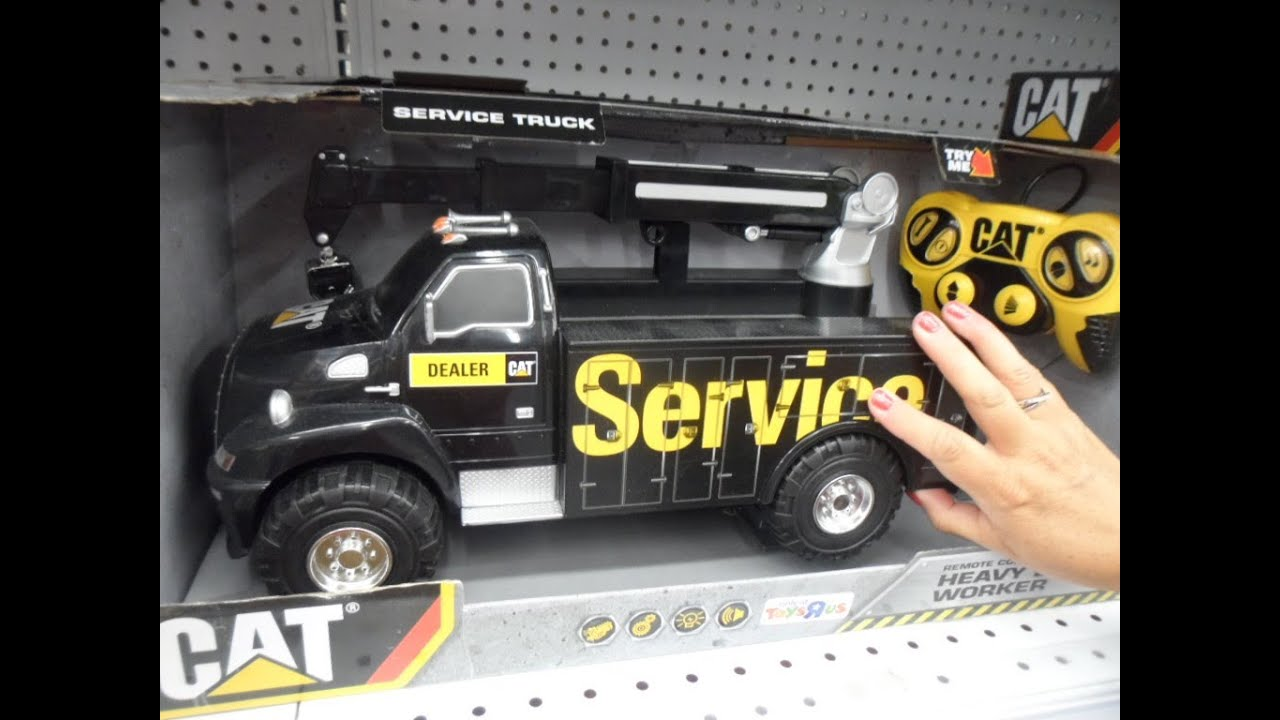 Remote Control Caterpillar Service Toy Truck With