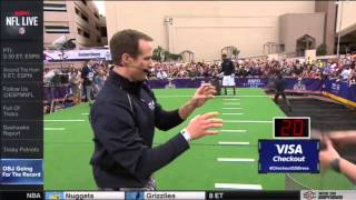 O'Dell Beckham Junior Drew Brees Guinness World Record One Hand Catch