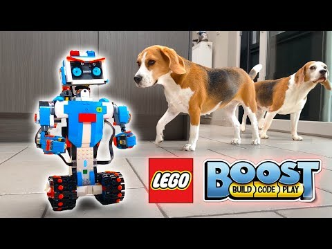 Dogs Vs. LEGO ROBOT Prank | Funny Dogs Louie & Marie