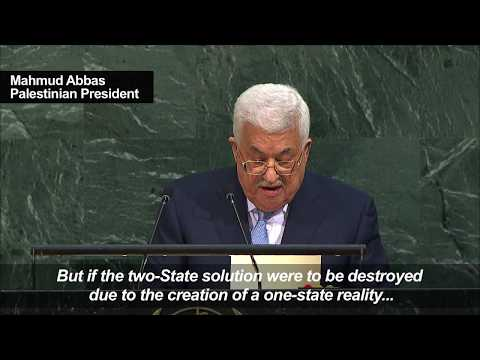 Abbas Calls For End To Israeli 'apartheid' On Palestinians
