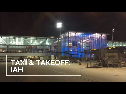 Taxiing & takeoff at Bush Intercontinental Airport (time-lapse)