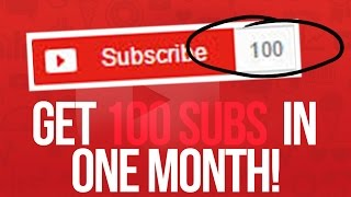 How to Get Your First 100 SUBSCRIBERS in Less Than a MONTH!
