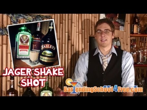 How To Make The Jager Shake Shot (Drink Recipes)
