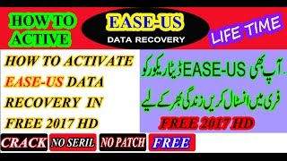 How to  Active EaseUS Data Recovery Wizard Professional 10.8.0 With Crack urdu/hindi/english