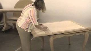 Fremarc Designs Carved French Draw Top Table.wmv