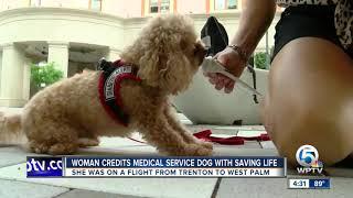 Woman Credits Medical Service Dog With Saving Life
