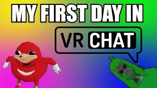 MY FIRST DAY IN VR CHAT | VR Funny Moments