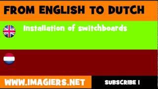 NEDERLANDS = ENGELS = Installeren van schakelborden