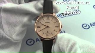 Обзор. Женские наручные часы Fossil ES3707(Подробное описание и фото: http://www.alltime.ru/catalog/watch/fashion/fossil/Lady/3564/detail.php?ID=1650968&back=list., 2015-10-13T18:04:34.000Z)