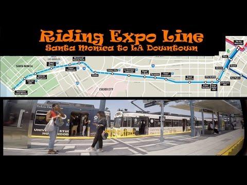 #127 Riding LA Metro Expo Line East (1/2)