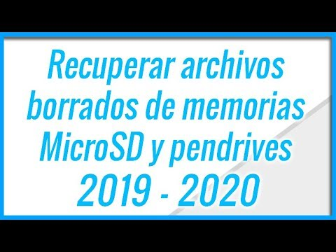 Como Recuperar Archivos De Una SD O MicroSD Dañada | 2019 - 2020