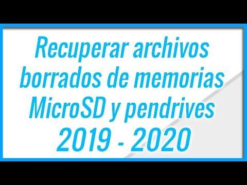 Como Recuperar Archivos De Una SD O MicroSD Dañada | Año - 2020