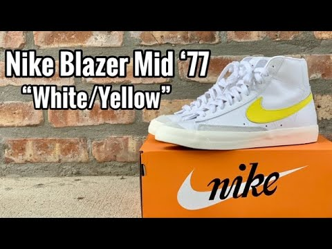 "Nike Blazer Mid 77 Vintage ""White Yellow"" review"