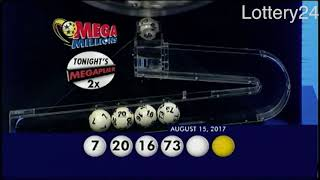 2017 08 15 Mega Millions Numbers and draw results