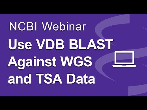 Webinar: Using VDB BLAST to Search WGS and TSA Data at NCBI