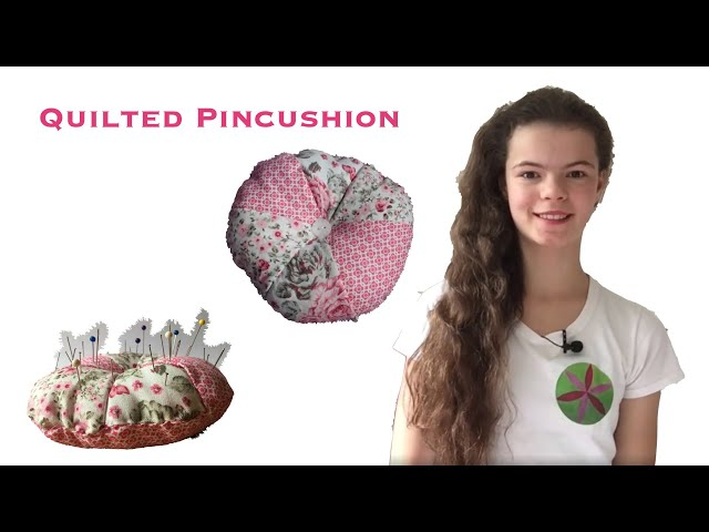 How to Sew a DIY Round Quilted Pincushion Step by Step Instructions | Sewing Tutorial