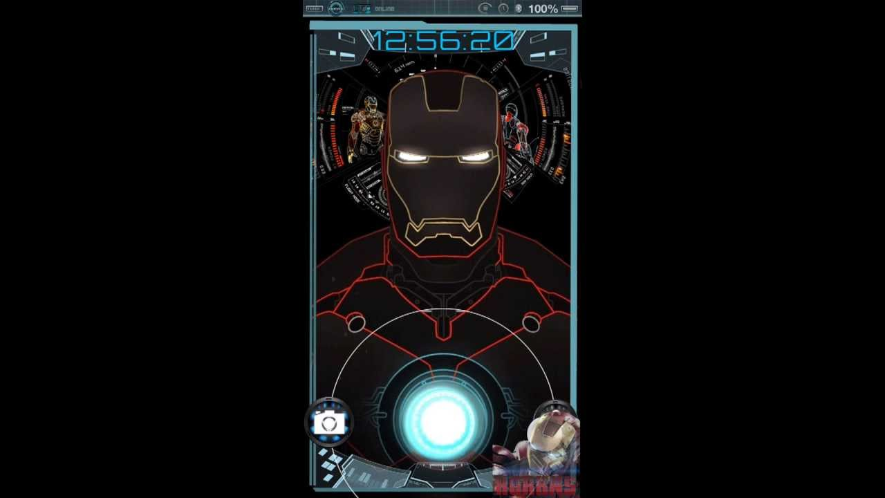Iphone 7 Live Wallpaper Not Working Ironman Jarvis Theme Mark 2 For Iphone5 Youtube