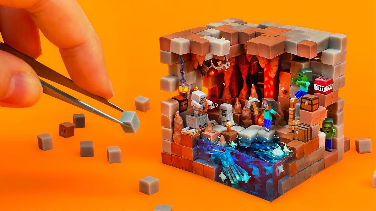 Making Tiny Minecraft World - Dripstone Cave (+Glow Squids!) 1.17