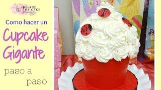 Cupcake Gigante : Como hacer un pastel de cupcake