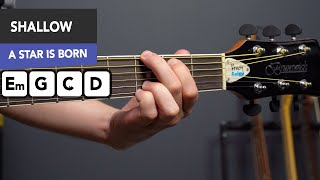 Shallow EASY Guitar Tutorial - Lady Gaga, Bradley Cooper (A Star Is Born) Video