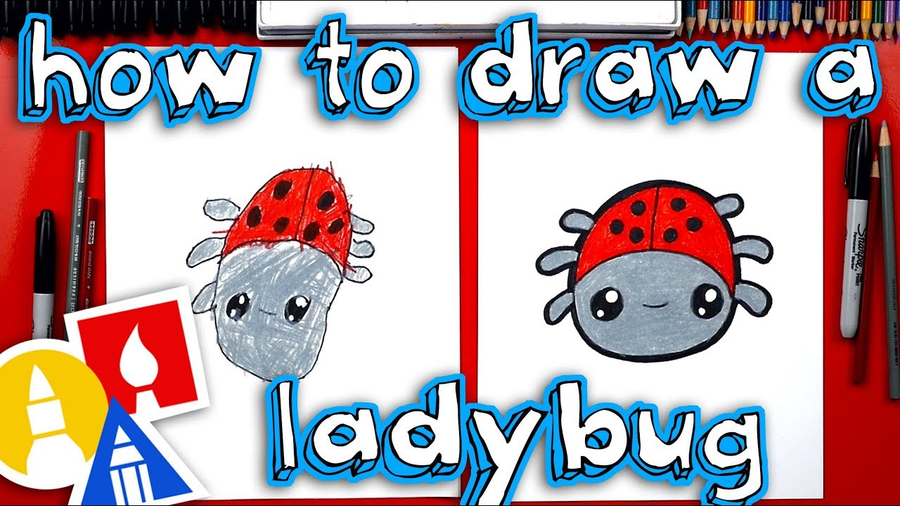 A Cartoon Ladybug how to draw a cartoon ladybug