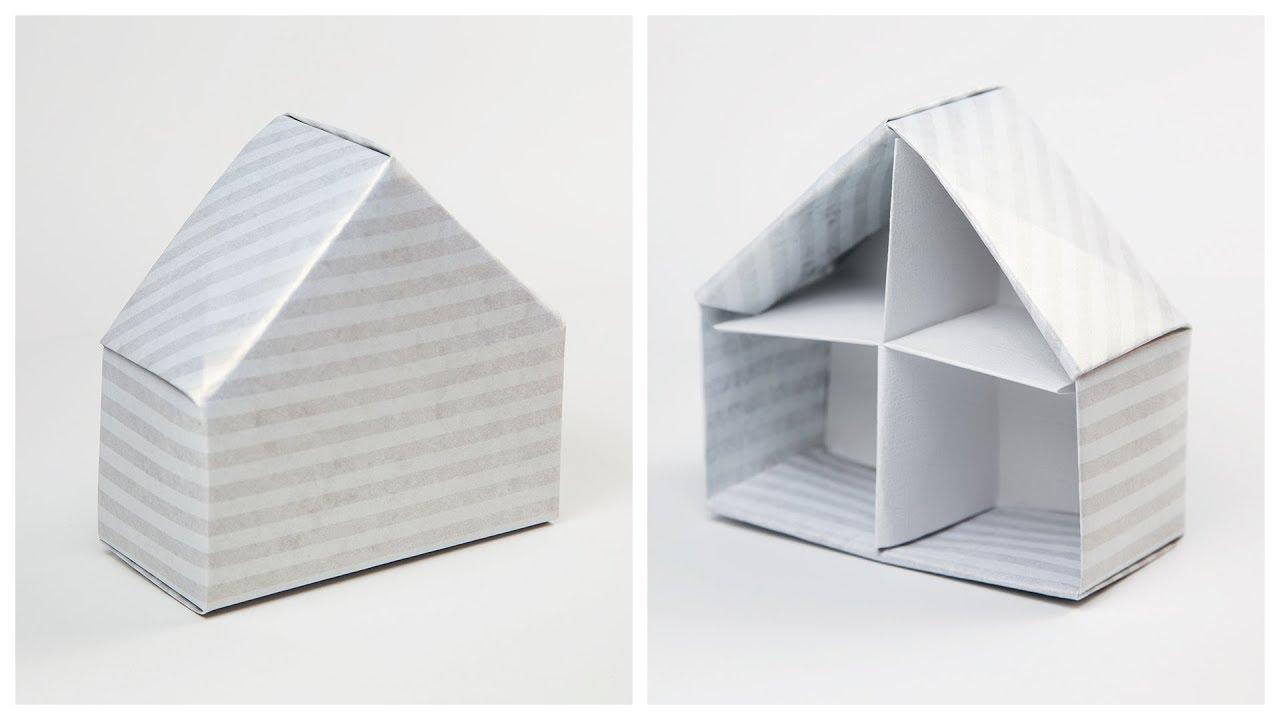 Origami House Box Tutorial Dolls Paper Kawaii