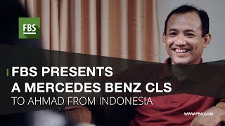 fbs presents a mercedes benz cls to ahmad from indonesia