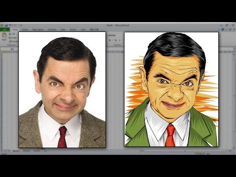 Time Lapse Vector/Vexel MS Excel 2010 (Mr Bean)