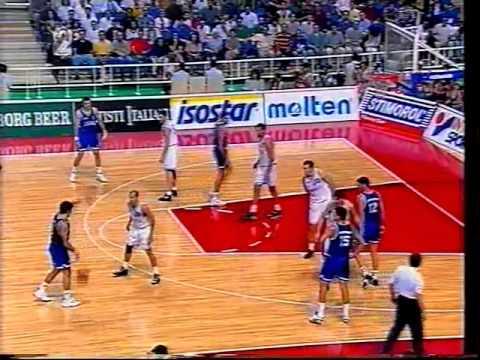 1995 Eurobasket semi final Yugoslavia-Greece