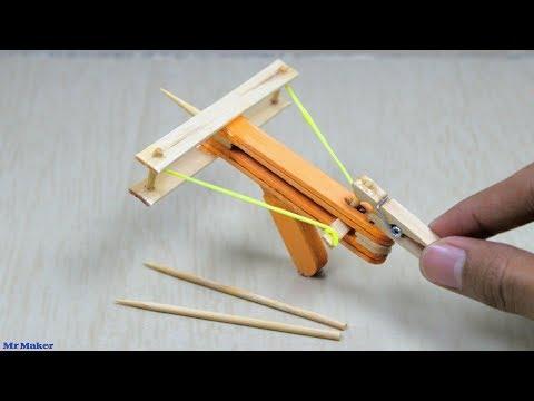 How To Make Powerful Mini Crossbow - DIY