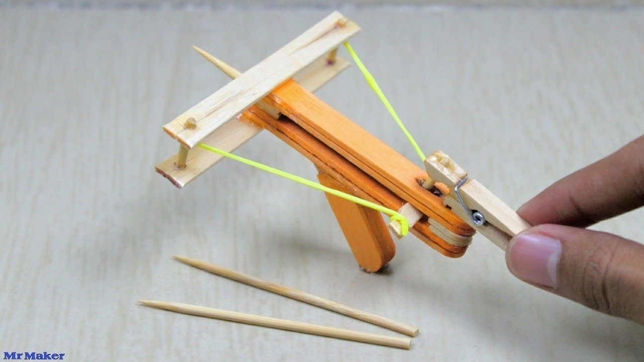 how to make a powerful mini crossbow