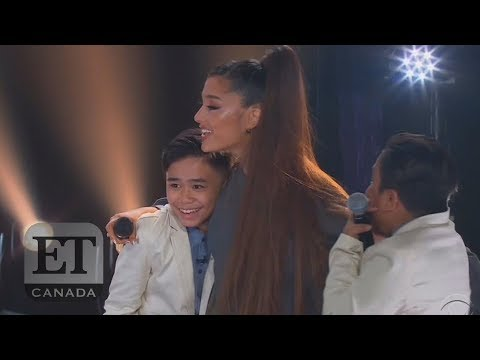 Ariana Grande Surprises TNT Boys On Stage, Talks 'Nonexistent' Personal Life