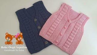 Kolay Bebek Yelek Yapımı kızbebekyelek erkekbebekyelek knitting biryumaklabiryaşyelek