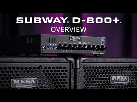 MESA/Boogie Subway D800+ Overview and Demo Video