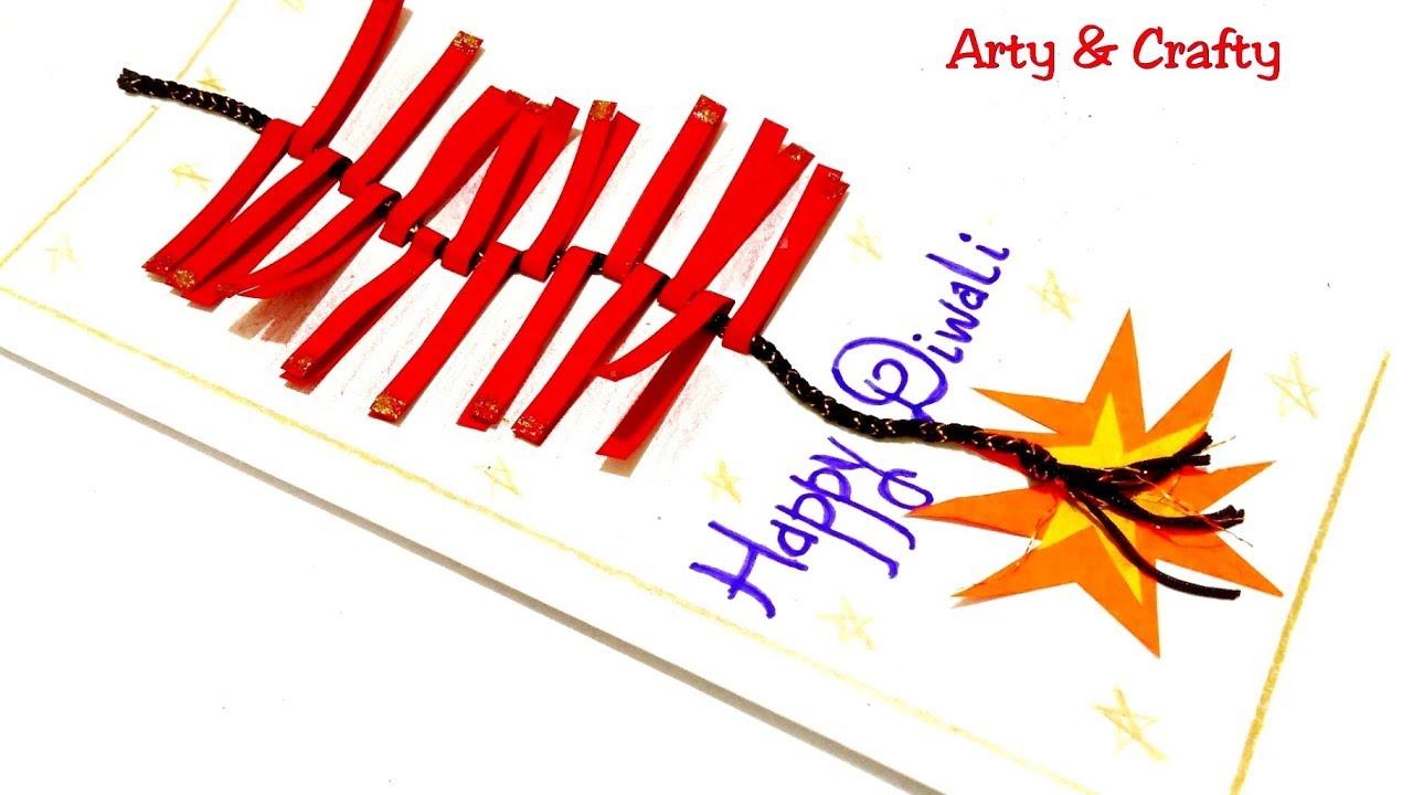 diwali card easy festival carddiwali card tutorials