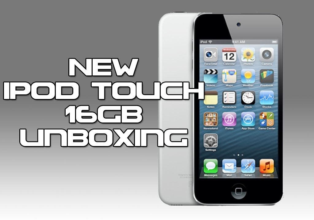 NEW iPod touch [16GB] Black/Silver Unboxing - YouTube