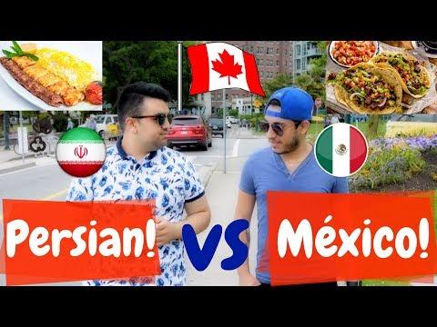 Mexican VS Persian FOOD in CANADA