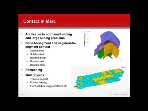 Marc - Advanced Contact Modeling for Accurate Simulations