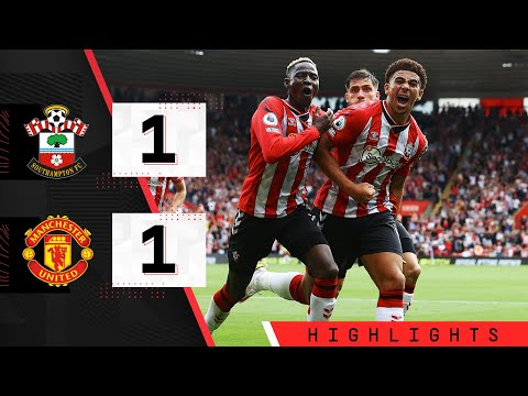 90 SECOND HIGHLIGHTS: Southampton 1-1 Manchester United    Premier league