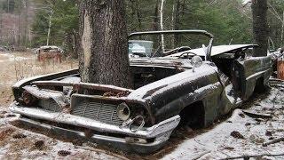 Брошеные в лесу ретро автомобили часть 1 (Abandoned vintage cars in the woods part 1)